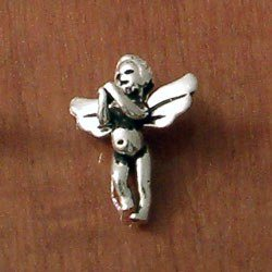 Turkish Sterling Silver Charm Angel 2 cm 2 gram