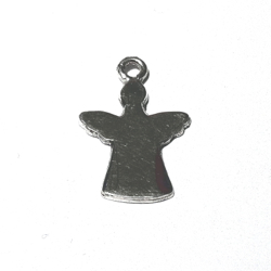 Sterling Silver Blank Label for Marking Angel Charm 23 mm 1.3 gram