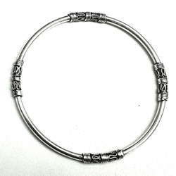 Turkish Full Sterling Silver Bangle Bracelet 11.7 gram