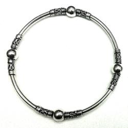 Turkish Full Sterling Silver Bangle Bracelet 15 gram