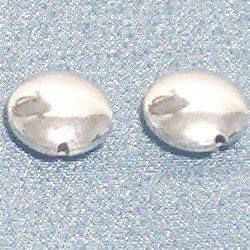 Lot of 2 Turkish Sterling Silver Bead Flat 9 mm 1.4 gram