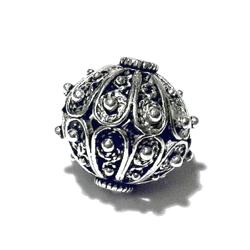 Turkish Sterling Silver Bead 16 mm 5.3 gram