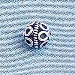 Lot of 2 Turkish Sterling Silver Bead Telkari 5 mm 1 gram