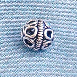 Lot of 2 Turkish Sterling Silver Bead Telkari 7 mm 1.2 gram