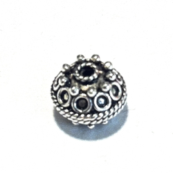 Turkish Sterling Silver Bead 10 mm 1.6 gram