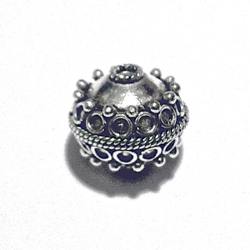 Turkish Sterling Silver Bead 13 mm 3 gram