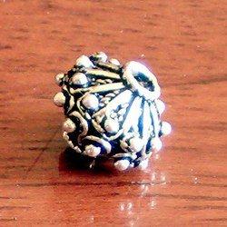 Turkish Sterling Silver Bead 1 cm 2 gram