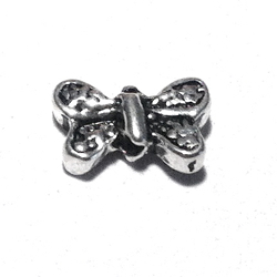 Lot of 2 Turkish Sterling Silver Butterfly Bead Charm 9 mm 1.2 gram