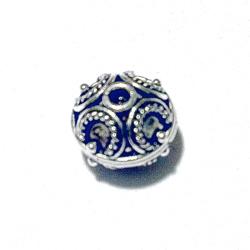Turkish Sterling Silver Bead 10 mm 1.9 gram