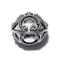Turkish Sterling Silver Bead 17 mm 4.3 gram