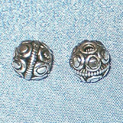Lot of 2 Turkish Sterling Silver Beads 7 mm 1.5 gram