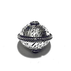 Turkish Sterling Silver Bead 13 mm 2 gram