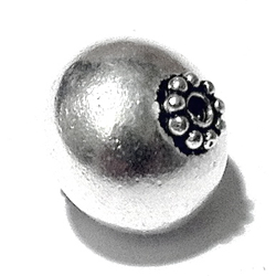 Turkish Sterling Silver Bead 15 mm 2.7 gram
