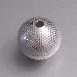 Turkish Sterling Silver Bead 1 cm Dotted 1.3 gram