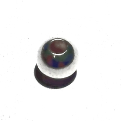 Lot of 3 Turkish Sterling Silver Bead 6 mm 1.2 gram