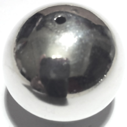 Turkish Sterling Silver Bead 28 mm 13 gram