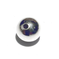 Turkish Sterling Silver Bead 10 mm 1 gram
