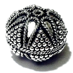 Turkish Sterling Silver Bead 20 mm 10 gram