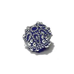 Turkish Sterling Silver Bead 11 mm 2.5 gram