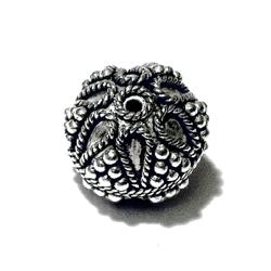 Turkish Sterling Silver Bead 14 mm 4 gram