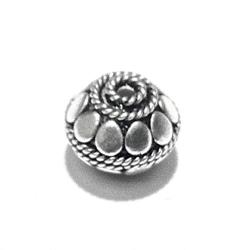 Turkish Sterling Silver Bead 10 mm 2 gram