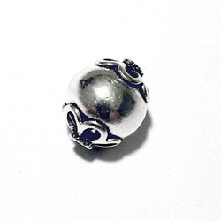 Turkish Sterling Silver Bead 13 mm 1.8 gram