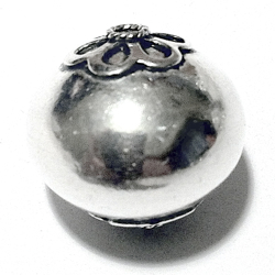 Turkish Sterling Silver Bead 18 mm 5 gram