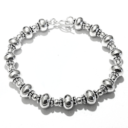 Turkish Full Sterling Silver Link Bracelet 17 gram