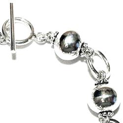 Turkish Full Sterling Silver Beaded Link Bracelet 20 gram