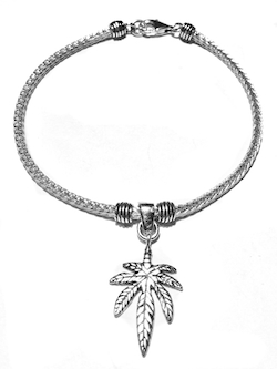 Sterling Silver Thematic Charm Bracelet Palm 9.4 gram