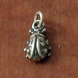 Turkish Sterling Silver Charm Ladybug 14 mm 1 gram