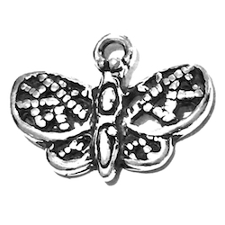 Sterling Silver Charm Pendant Rose 25 mm 2.2 gram