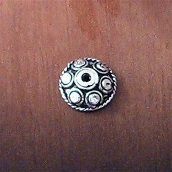Lot of 2 Turkish Sterling Silver Bead Cap 1 cm 1.4 gram
