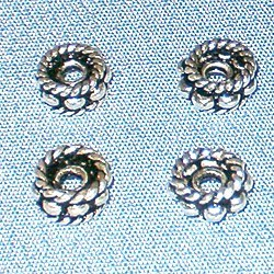 Lot of 3 Turkish Sterling Silver Spacer Bead 5 mm 1.14 gram