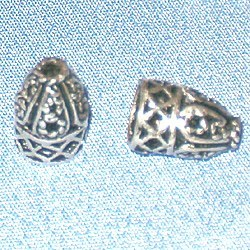 Turkish Sterling Silver Bead Cap Cone 9 mm 1 gram