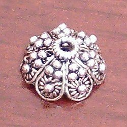 Turkish Sterling Silver Bead Cap 12 mm 1.3 gram