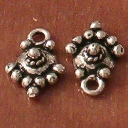 Lot of 2 Turkish Sterling Silver Charm Drop 12 mm 1 gram