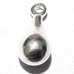 Turkish Sterling Silver Charm Drop 13 mm 1.3 gram