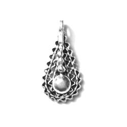 Pair of Sterling Silver Charm Blank Earrings 2 cm 2 gram
