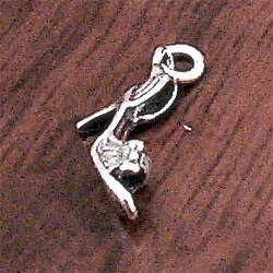 Turkish Sterling Silver Charm Heels 2 cm 1.4 gram