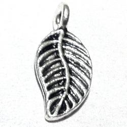 Lot of 2 Turkish Sterling Silver Charm Leaf 16 mm 1.4 gram