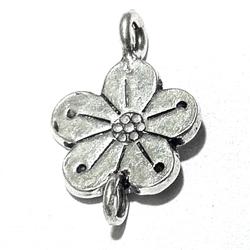 Turkish Sterling Silver Charm Flower 20 mm 1.4 gram