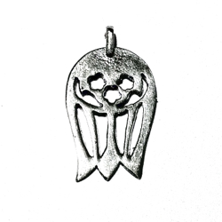 Turkish Sterling Silver Charm Pendant Tulip 20 mm 1 gram
