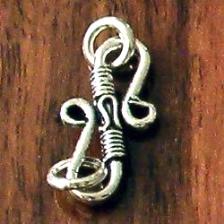 Turkish Sterling Silver Clasp 2 cm 1.4 gram
