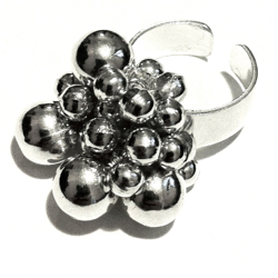 Turkish Full Sterling Silver Cluster Ring Sz 7 Fits All 14 gram