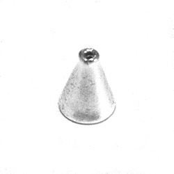 Sterling Silver Bead Cap Cone 14 mm 1 gram