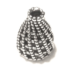 Turkish Sterling Silver Bead Cap Cone 12 mm 1.5 gram