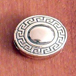 Turkish Sterling Silver Flat Bead 4 gram 18 mm
