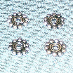 Lot of 3 Turkish Sterling Silver Spacer Beads 7 mm 1 gram