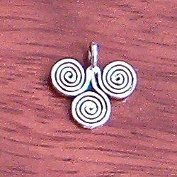 Turkish Sterling Silver Spiral Charm 14 mm 1.25 gram